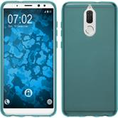 Silicone Case Mate 10 Lite transparent turquoise Case