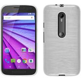 Silicone Case for Motorola Moto G 2015 3. Generation brushed white