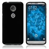 Silikon Hülle Moto E5 Plus transparent schwarz Case