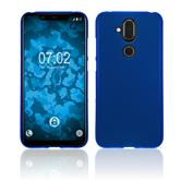 Silicone Case Nokia 8.1 (X7) matt blue Cover