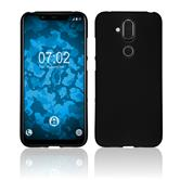Silicone Case Nokia 8.1 (X7) matt black Cover