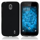Silikon Hülle Nokia 1 matt schwarz Case