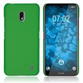 Hardcase Nokia 2.2 rubberized green + protective foils