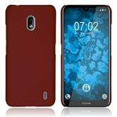 Hardcase Nokia 2.2 rubberized red + protective foils