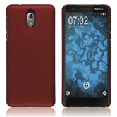 Hardcase Nokia 3.1 rubberized red Cover
