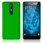 Hardcase Nokia 5.1 rubberized green Cover