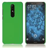 Hardcase Nokia 5.1 Plus rubberized green Cover