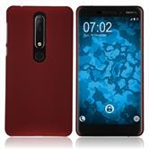 Hardcase Nokia 6.1 (2018) rubberized red Case
