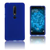 Silikon Hülle Nokia 6.1 (2018) matt blau Case