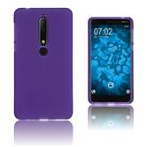 Silikon Hülle Nokia 6.1 (2018) matt lila Case