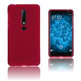 Silikon Hülle Nokia 6.1 (2018) matt rot Case