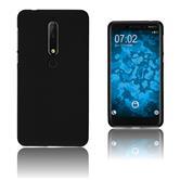 Silikon Hülle Nokia 6.1 (2018) matt schwarz Case