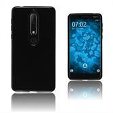 Silikon Hülle Nokia 6.1 (2018)  schwarz Case