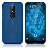 Silikon Hülle Nokia 6.1 Plus matt blau Cover