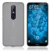 Silikon Hülle Nokia 6.1 Plus matt transparent-weiß Cover