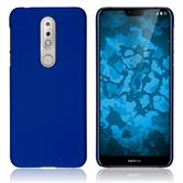 Hardcase Nokia 7.1 rubberized blue Cover