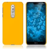 Hardcase Nokia 7.1 rubberized yellow Cover
