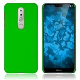 Hardcase Nokia 7.1 rubberized green Cover