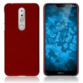 Hardcase Nokia 7.1 rubberized red Cover