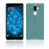 Custodia in Silicone Nokia 7 Plus trasparente turchese Case