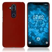 Hardcase Nokia 8.1 (X7) rubberized red Cover