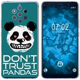 Nokia 9 PureView Coque en Silicone Crazy Animals Panda M2