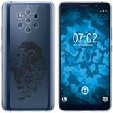 Nokia 9 PureView Funda de silicona floral M6-1