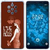 Nokia 9 PureView Custodia in Silicone in Love  M3
