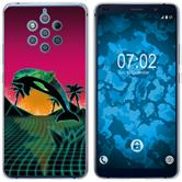 Nokia 9 PureView Silicone Case Retro Wave M1
