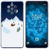 Nokia 9 PureView Custodia in Silicone Natale X Mas  M6