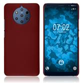 Hardcase Nokia 9 PureView rubberized red + protective foils