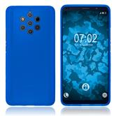 Silicone Case Nokia 9 PureView matt blue + protective foils
