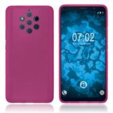 Silicone Case Nokia 9 PureView matt hot pink + protective foils
