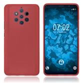 Silicone Case Nokia 9 PureView matt red + protective foils