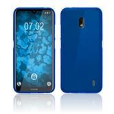 Coque en silicone Nokia 2.2 mate bleu + films de protection
