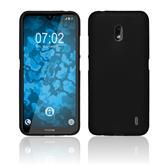 Silicone Case Nokia 2.2 matt black + protective foils