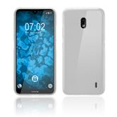 Silicone Case Nokia 2.2 matt white + protective foils