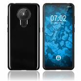 Coque en silicone Nokia 5.3 transparent noir
