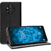 Artificial Leather Case Nokia 9 PureView Bookstyle black + protective foils