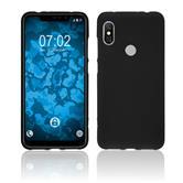 Silicone Case Redmi Note 6 Pro matt black + protective foils