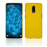 Hardcase OnePlus 6T rubberized yellow Cover