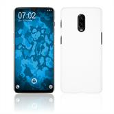Hardcase OnePlus 6T rubberized white Cover