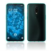 Silicone Case OnePlus 6T transparent turquoise Cover