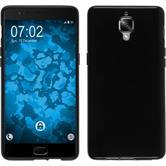 Silicone Case OnePlus 3T  black + protective foils