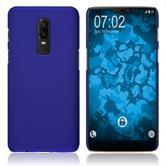 Hardcase OnePlus 6 gummiert blau Case