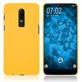 Hardcase OnePlus 6 gummiert gelb Case