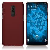 Hardcase OnePlus 6 gummiert rot Case