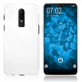 Hardcase OnePlus 6 gummiert weiß Case
