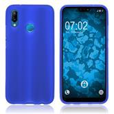 Silicone Case P20 Lite matt blue Case