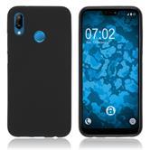 Silicone Case P20 Lite matt black Case